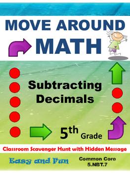 Math Scavenger Hunt: Subtraction of Decimals