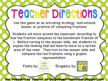 Move Around the Room – Comparing benchmark fractions 4.NF.4