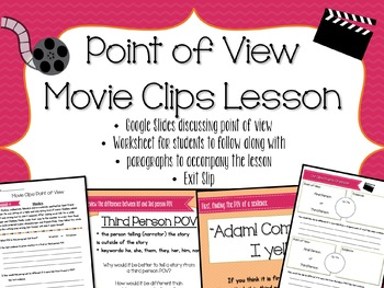 Move Clip Point of View Lesson and Worksheets - FUN End of