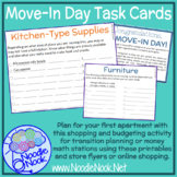 Move-In Day Task Cards for Community Based Instruction and Price Comparison