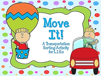 Move It!  A Transportation Sort for L.K.5c, L.1.5a, &  L.2.5a