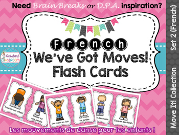 Move It! French We've Got Moves Dance Flash Cards