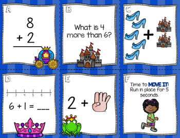 Move It Mathematics *Math Hunts / Task Cards / Scoot [Unit 2-Add/Subtract to 10]