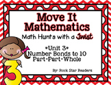 Move It Mathematics *Math Hunts / Task Cards / Scoot [Unit 3-Number Bonds]