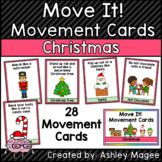 Move It! Movement Cards Christmas Theme Brain Breaks for G