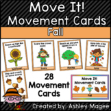 Move It! Movement Cards Fall Theme Brain Breaks for Gross