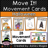 Move It! Movement Cards Halloween Theme Brain Breaks for G