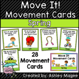 Move It! Movement Cards Spring Theme Brain Breaks for Gross Motor
