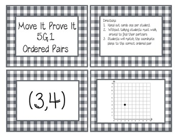 Move It Prove It 5.G.1 Coordinate Planes and Ordered Pairs-5.G.A.1