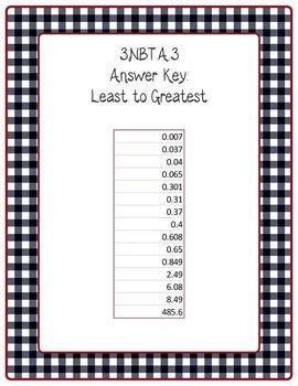 Move It Prove It 5.NBT.3 Decimals (Name and Order) game-5.NBT.A.3