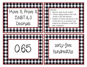 Move It Prove It 5.NBT.3 Decimals (Name and Order) game-5.NBT.A.3