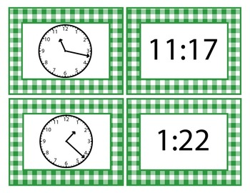 Move It Prove It Card Matching Game 3.MD.1: Telling Time to the Nearest Minute