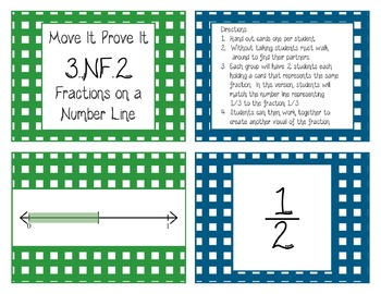 Move It Prove It Card Matching Game 3.NF.2: Fractions on a Number Line-3.NF.A.2