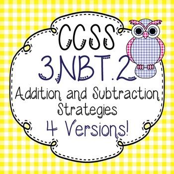 Move It Prove It Games for 3.NBT.2 Addition & Subtraction