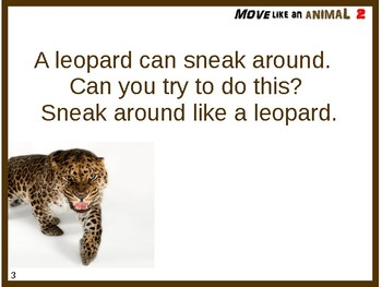 Move Like An Animal 2 - Rainy Day Indoor Activity for Pre-K and Kindergarten