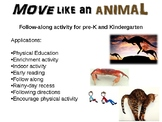 Move Like An Animal - Rainy Day Indoor Activity for Pre-K and Kindergarten