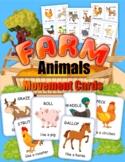 Move Like a Farm Animal Cards