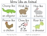 Move Like an Animal Cards