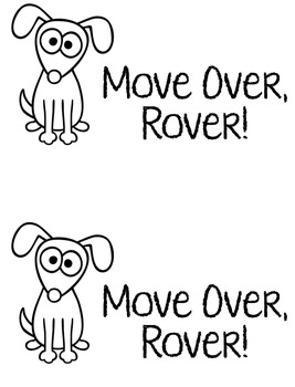 Move Over Rover! Literacy Center Book