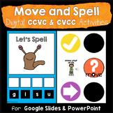 Move & Spell CCVC &CVCC Activities Google Slides & PowerPoint