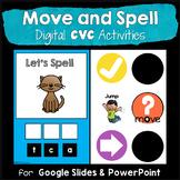 Move & Spell CVC Activities Google Slides & PowerPoint(Dis