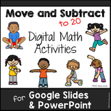 Move & Subtract Digital Math (to 20) for Google Slides PowerPoint
