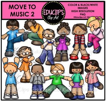 Move To Music 2 Clip Art Bundle {Educlips Clipart}