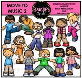 Move To Music 2 Clip Art Bundle {Educlips Clipart}