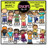 Move To Music 1 Clip Art Bundle {Educlips Clipart}