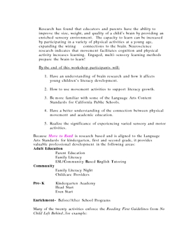 MOVE to Read curriculum guide/CD