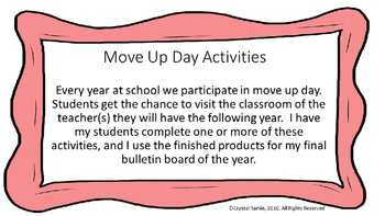 Move Up Day Activities