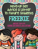Move-Up Day Advice To Future Students End of Year Letters