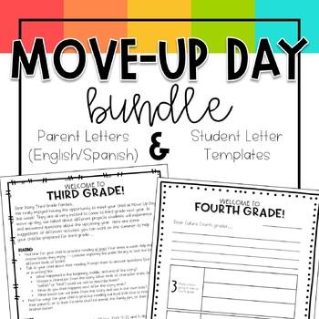 Move Up Day Bundle -- Parent Letters & Student Letter Templates