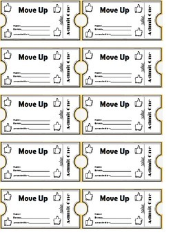 Move Up Ticket  Sheet