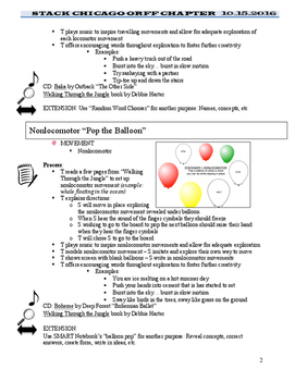 Move With It Orff Workshop NOTES