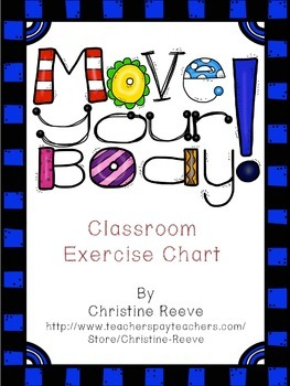 Move Your Body: Classroom Exercise Chart (autism, special ed)