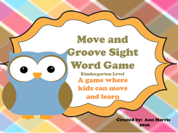 Move and Groove Kindergarten Sight Word Game
