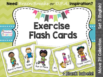 Move It! Exercise Flash Cards for Brain Breaks and D.P.A.