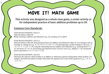 Move it! Math Game