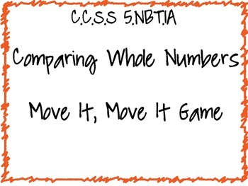Move it, Move It Comparing Numbers Game