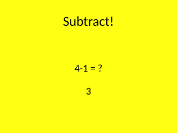 Move'n Math Subtract 1-10