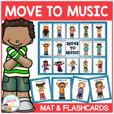 Actions Move to Music Board + Flashcards