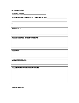 Move up IEP Form Transition