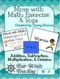 Move with Math (Exercise & Yoga) Math Fact Fluency Cards -
