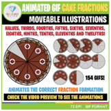 Moveable Animated GIF Chocolate Cake Fractions Clip Art