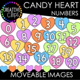 Moveable Candy Heart Numbers 0-20 (Valentine Moveable Numbers)