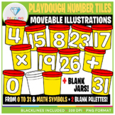 Moveable Clip Art: Playdough Number Tiles {Back to School}
