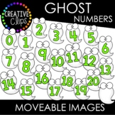 Moveable Ghost Numbers 0-20 (Halloween Moveable Images)