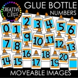 Moveable Glue Bottle Numbers 0-20 (School Moveable Images)