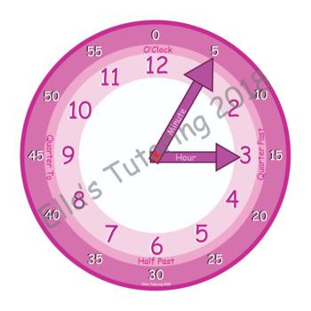 Moveable Hands Beginner Clock